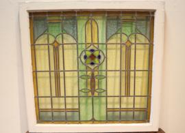 Art Deco glas-in-lood-raam