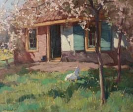 Geit in voortuin, Willem Frederik Noordijk (1887-1970)