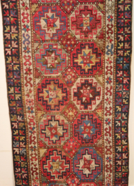 Antiek Perzisch kleed/loper 236 x 102 cm