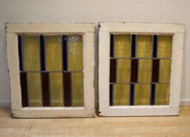Set Art Deco glas-in-lood-ramen