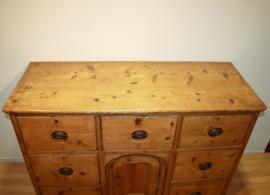 Verwonderlijk Antieke grenen ladenkast dressoir commodeAntique chest ZA-09