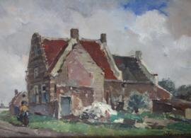 Theo van Wijngaarden (1874-1952) vrouw in polder