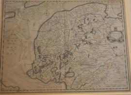 Antieke kaart Friesland 1725