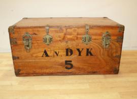 Vintage houten reiskist