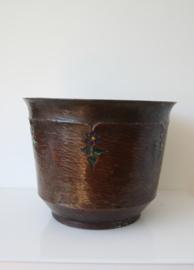 Antieke Jugendstil koperen pot