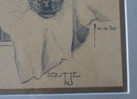 Tekening van een boxer, Jan Schonk (1889-1976)