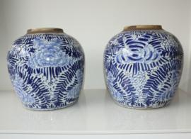 Set Chinese porseleinen gemberpotten