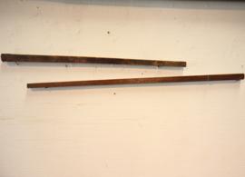 Twee antieke meetstokken, ellematen
