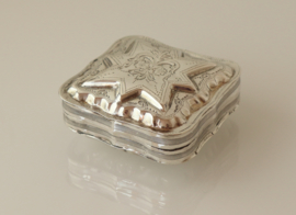 Zilveren pepermuntdoosje, tandendoosje 1889