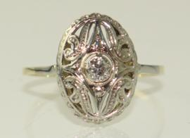 Antieke gouden Art Deco ring met oudslijpsel diamant