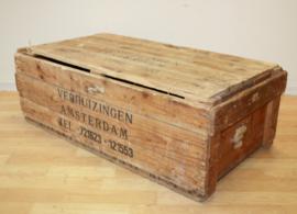Vintage houten verhuiskist / transportkist