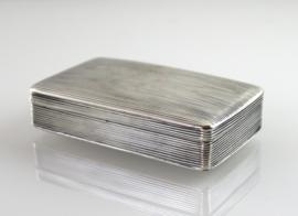 Antiek zilveren snuifdoosje, 1858
