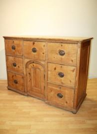 Verbazingwekkend Antieke grenen ladenkast dressoir commodeAntique chest LG-74