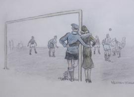 Herman Moerkerk (1879-1949) tekening voetballers
