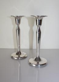 Set zilveren kandelaars