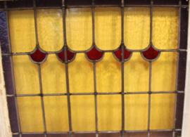 Set antieke glas-in-lood-ramen