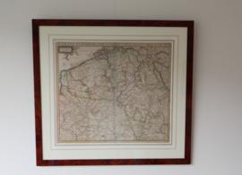 Antieke kaart Belgie en zuidelijk Nederland ca 1680