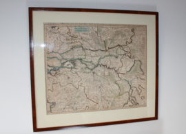 Antieke kaart van Zuid Nederland 1696