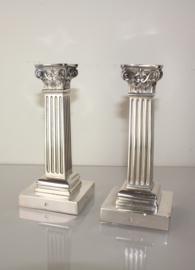 Set antieke zilveren kandelaars 1910