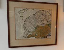 Antieke kaart Friesland Frederik de Wit ca 1730