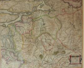 Antieke kaart Brabant Hondius 1633