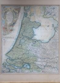 Antieke landkaart Holland, 1733