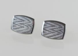 Fraaie vintage zilveren manchetknopen