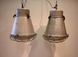 Set vintage fabriekslampen