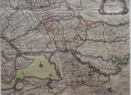Antieke kaart Brabant en Zuid Holland 1644 Joan Blaeu
