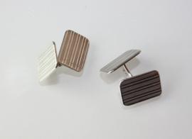Vintage zilveren manchetknopen / jumelles Fibbe (Rotterdam 1944-1953)