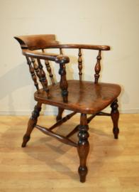 Antieke Engelse Windsor bureaustoel