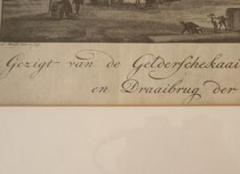 Antieke gravure Rotterdam, 18e eeuw
