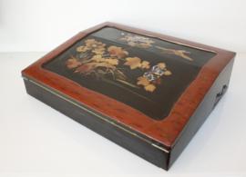 Antiek Japans lakwerk schrijfkistje