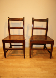 Set antieke Engelse stoelen ca 1800