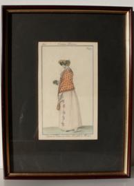 Antieke modeprent Costume Parisien