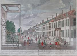 Antieke gravure Koekamp Den Haag, Probst 18e eeuw.