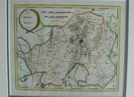 Antieke landkaart Baronie Breda 18e eeuw