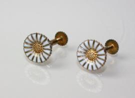 Vintage Deens design verguld zilveren oorbellen Anton Michelsen