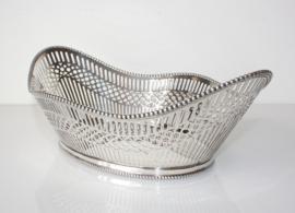 Antieke Hollands zilveren broodmand 1922