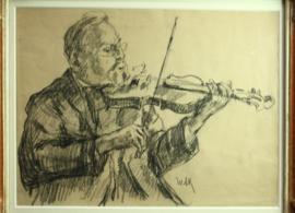 Tekening violist