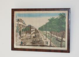 Antieke gravure Den Haag
