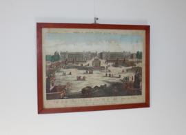 Antieke gravure Parijs 18e eeuw