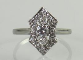 Vintage witgouden ring met briljanten