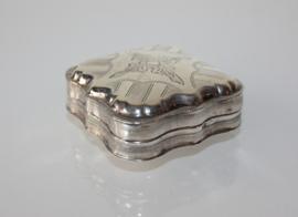 Zilveren pepermuntdoosje 1870, tandendoosje