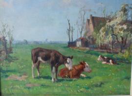 Louis Soonius (1883-1956) Koeien in weiland