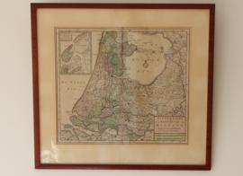 Antieke kaart Holland, 18e eeuw