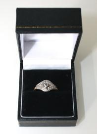 Antiek gouden Art Deco ring met roosdiamanten