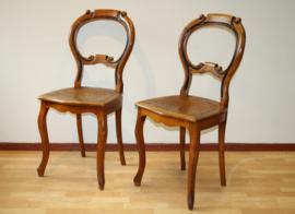 Twee antieke Willem III stoelen