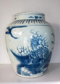 Grote antieke Chinees porseleinen vaas 19e eeuw