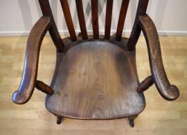 Antieke Windsor schommelstoel